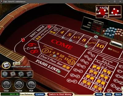 BoVegas craps game available on desktop application