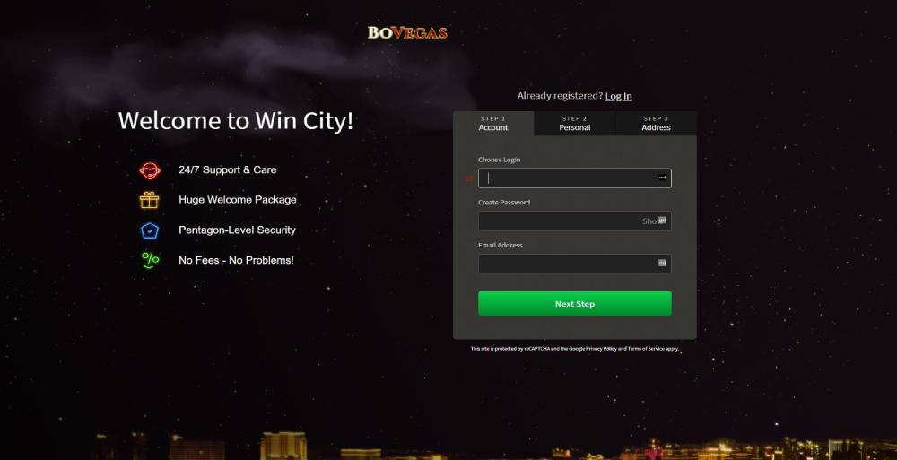 Register now and get a bonus at BoVegas