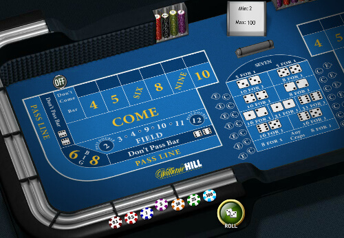Playing craps on a touchscreens is easy and enjoyable.