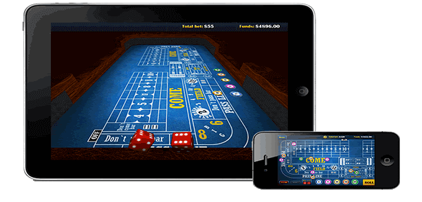 Playing craps on a mobile device is fun and easy.