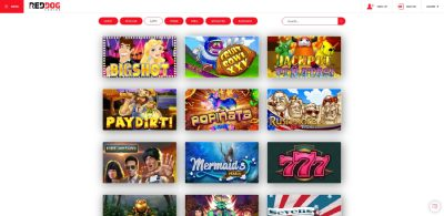 Red Dog offers a great variety of slot games